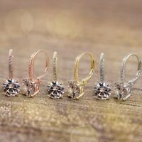 925 Sterling Silver Plated 14k Gold Pave Crystal Fashion Women Earrings Jewelry Ebay