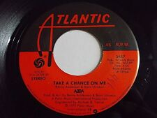 ABBA Take A Chance On Me / I'm A Marionette 45 1977 Atlantic Vinyl Record