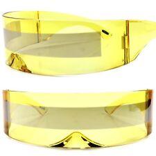Bionics Alien Space Robot Cyclops Futuristic Costume Yellow Novelty Sunglasses