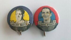 Two Argus Football Badge - Shane McGrath & Archie Baxter