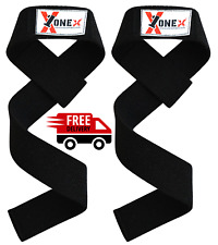 Pair Gym Weightlifting Bodybuilding Straps Grip Strength Cotton Straps Wrist S
