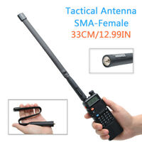 Tactical Antenna SMA-Female Dual Band VHF UHF Foldable For Baofeng Two Way Radio