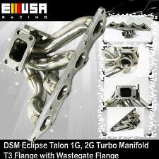 90-99 MITSUBISHI ECLIPSE TALON T3 WG38 STAINLESS TURBO MANIFOLD 4G63 1G 2G T4