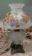 Beautiful Hand Painted GWTW Gone With The Wind Frosted Glass Table Lamp Electric