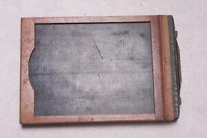 "1/4 Plate Film Glass Holder 3.25 x 4.25"" Kodak Pocket Premo 14x95x132mm USED M78"