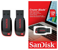 SanDisk 2 x 128GB = 256GB Cruzer BLADE USB Flash Pen Drive SDCZ50-128G-B35