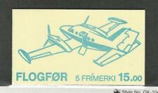Faroe Islands, Postage Stamp, #138a Booklet Mint NH, 1985 Airplanes