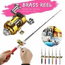 39.37in Mini Telescopic Portable Pocket Aluminum Alloy Fishing Pen Rod Pole Reel