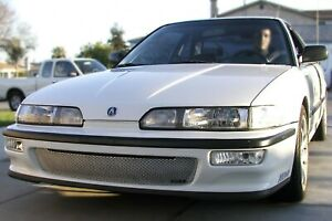GrillCraft Silver MX-Series Lower Bumper Mesh Grille for Acura Integra 1992-1993