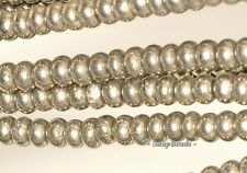 PALAZZO IRON PYRITE GEMSTONE RONDELLE 3X2MM LOOSE BEADS 16""