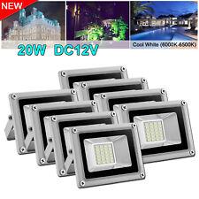 8X 20W Dc12V Led Smd Flood Light Cool White Outdoor Landscape Garden Lamp Ip65