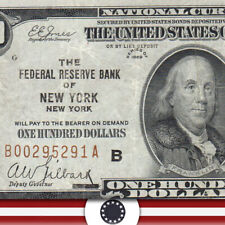 1929 $100 NEW YORK FRBN NOTE Fr 1890-B    95291-P