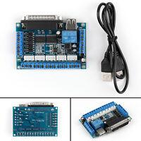 1Set MACH3 Interface Board CNC 5 Axis Optocoupler Adapter Stepper Motor SS