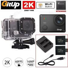 Gitup Git2 Pro WiFi Helmet Action Sports Camera Video Loop +Dual Charger+Battery