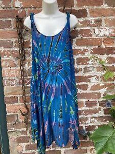ladies Tie Dye Light Midi dress hippie/boho/festival free size