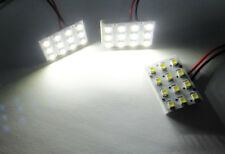 White 12 SMD LED Dome Light Panel T10 168 194 BA9S 6411 Bulb Adapter For Nissan