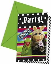 6 The Muppets Party Invitation Cards Envelopes Kids Birthday Party Celebration