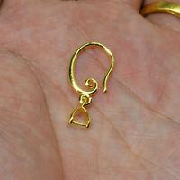 Wholesale Earring Jewelry Findings 18K Gold Filled Pinch Bail Bale Hook Earwire