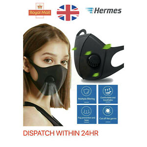 WASHABLE Mask Face Mask Adult Size Face Mask Reusable WITH VALVE
