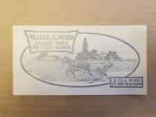 VINTAGE AGRICULTURE ADVERTISING. WALTER A. WOODS BOOKLET.