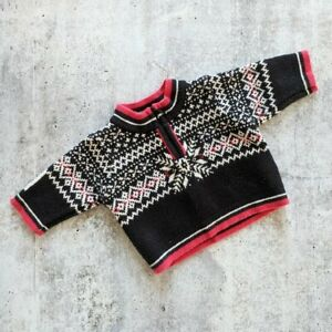 HANNA ANDERSSON fair isle nordic scandinavian infant sweater baby size 50/0-3m