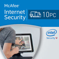 McAfee Internet Security 2020 10 PC 12 Months MAC,WINDOWS,ANDROID 2019 US
