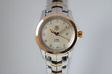 TAG HEUER LINK WJF1353.BB0581 WATCH MOP/DIAMONDS BOX & PAPERS 1YR WTY