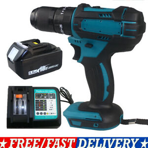 3-in-1 FOR MAKITA DHP483Z BRUSHLESS IMPACT DRILL DRIVER BODY DHP485Z + BATTERY