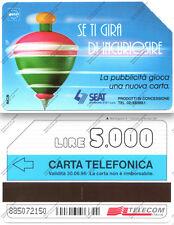 SCHEDA TELEFONICA - TELECOM - Se ti gira di incuriosire - 6/96 - Lire 5.000