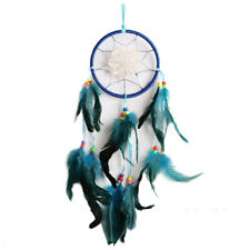 5X(Dream Catcher Feather Bead Handmade Anise Star Hanging Decor blue Q2J3