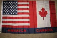 USA Canada Combo Flag 3x5 3 x 5 foot BRAND NEW - United States