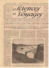 SCIENCES ET VOYAGES 1920 ISLANDE LES PLANTES DU DESERT LA LOUTRE LE TANK