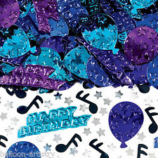 4 Bags Happy Birthday Blues Music Party Embossed Confetti Table Sprinkles