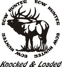 Bow Hunter circle decal Elk hunt call blind arrow