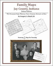 Family Maps Jay County Indiana Genealogy Plat History