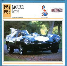 SCHEDA TECNICA AUTO DA COLLEZIONE - JAGUAR D-TYPE 1954-1956