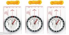 (3) Map Compass with Ruler Lanyard Survival Camping Hiking Emergency Ruler BOB