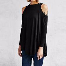 ZANZEA 8-24 Women Long Sleeve Plus Size Pullover T Shirt Tee Top Tunic Blouse