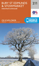 Bury St Edmunds and Stowmarket Explorer Map 211 - OS - Ordnance Survey