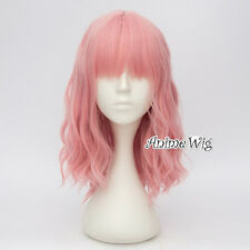 Lolita New Pink Heat Resistant Curly Anime Long Women Girls 35CM Cosplay  Wig