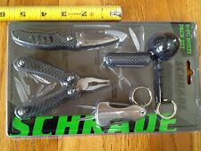 SCHRADE 5-PC MULTI PACK: MULTITOOL, FOLDING KNIFE, MULTI FUNCT KNIFE,KEYCHAIN