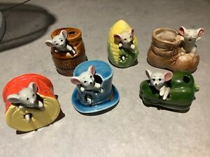 Vintage lot of Napcoware Mouse in Figures Figurines Japan 1960s ALL PERFECT