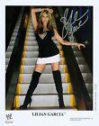 LILIAN GARCIA WWE SIGNED AUTOGRAPH 8X10 PROMO PHOTO W/ PROOF