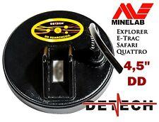 """Detech Excelerator 4.5"""" Bobina DD para Minelab E-TRAC Safari Explorer Y Quattro"""
