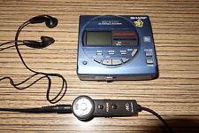 Sharp mt 15 MiniDisc Player/grabador azul-metalizado + Remote + pinganillo (43)