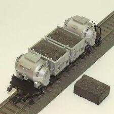 050 H0 Ladegut für Fleischmann 5230 Behälterwagen Schotter dunkelgrau, OVP