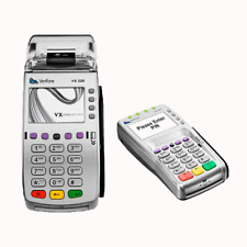 VeriFone Vx520 EMV NFC Credit Card Machine W/VX805 PIN Pad  *WORLDPAY* LOCKED