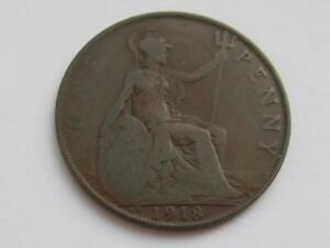 George V Penny 1918 KN - Nice filler/collectable coin