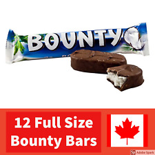 12 pack Bounty Chocolate Bar - Canadian Full Size Candy Bar