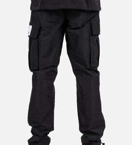 New Nike Air Jordan Flight Woven Cargo Pants Black Men's Size S CV3177-010